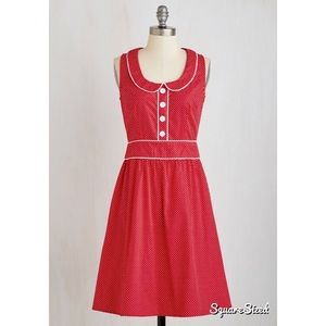 Cherry Red Retrolicious Dress
